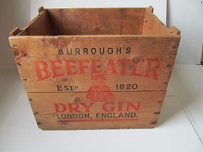 Vintage BEEFEATER DRY GIN Wood Packing Crate Wooden Liquor Box