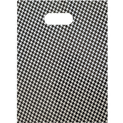 Bulk Sale - 400X300/330X250/250X180MM Black Grid Plastic Gift Bag/Shopping Bags