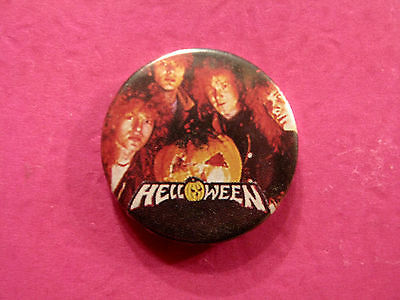 """Helloween Vintage Button Badge Pin Uk Import  """"group"""""""