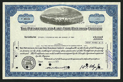 Pittsburgh & Lake Erie Railroad Co, stock certificate 1973, #P10336