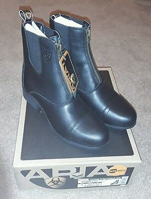 Ariat Women's Heritage III Zip Paddock H2O English Riding Boots Black Size 9
