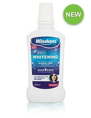 Wisdom UV PRO Whitening Alcohol Free Mouthwash 500ml