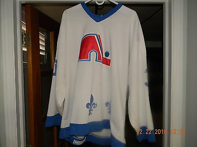 Quebec Nordiques 87-89 Game Worn, Used Brunetta Jersey