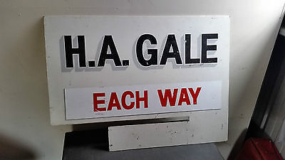 Vintage H.A. Gale Horse Racing Bookies sign