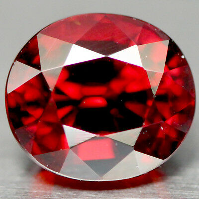 2.45 Ct Aaa! Natural! Red Afric Aaa! Natural! Red Spessartite Garnet Oval Africa