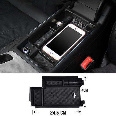Fit For 2016 2017 18 Audi A4 Storage Box Arm Rest Center Console Glove Bin Tray