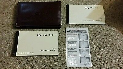 97 1997 Infiniti Qx4 Owners Manual Set With Case!!!