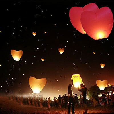 China Kongming Heart Paper Sky Fire Lantern Fly Light Balloon Wishes lamps SS