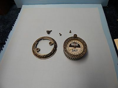 NCR clockThis clock and ring are nickel plated.  Included are the two screws for