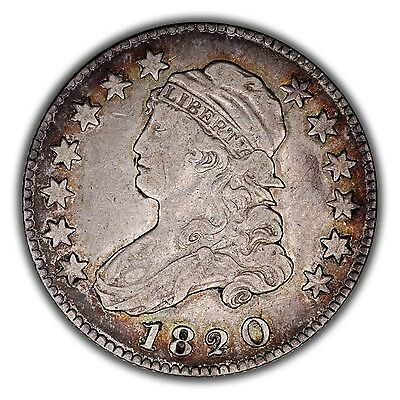 1820 B-1 Capped Bust Quarter - Large 0 - VF/EF - Very Tough R-4!