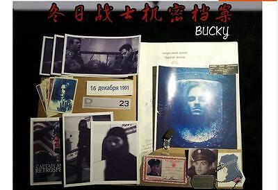 Marvel Winter Soldier The Avengers Bucky Paper Documen file +Folder collection