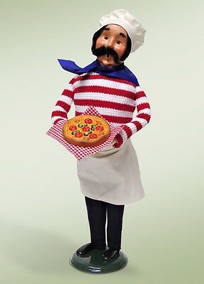 """Byers Choice Caroler Spring Mother's Day COOK CHEF with PIZZA 13"""" Doll Figurine"""