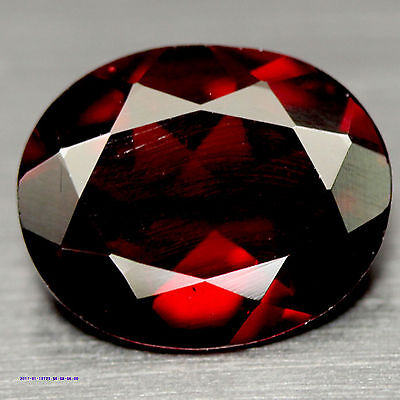 4.85 Ct Natural! Red Mozambique Garnet Oval