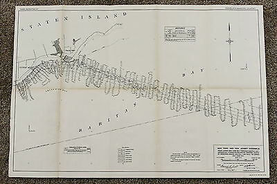1918 Staten Island Map Seguine Point Raritan Bay WAR Department Survey Original