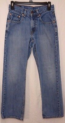 LEVIS Boys 550 Relaxed Fit Blue Denim Jeans (Size 16 Slim)