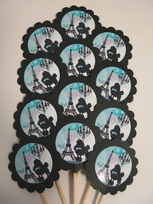Paris Eiffel Tower  Cupcake Toppers/Party Picks  Item #540