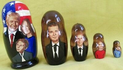 Donald Trump and Family Russian Nesting Doll/5-pieces Set/FREE SHIPPING IN USA