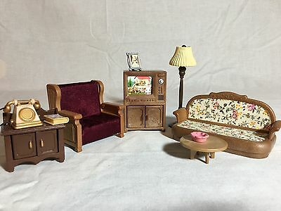 Calico critters/sylvanian families Living Room Furniture With TV