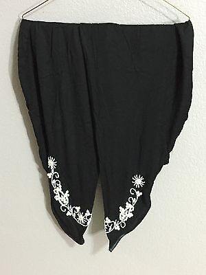 Pakistani/Indian Tulip Shalwar Trousers  Linen Black Fancy Eid Collection