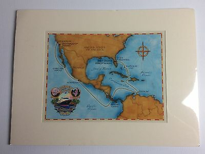Disney Cruise DCL Commemorative Panama Canal Map