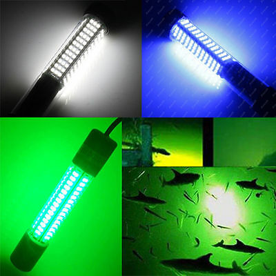 12v led green underwater boat night fishing fish bait lure, Reel Combo