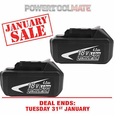 Makita BL1840B 18-Volt 4.0Ah LXT Lithium-Ion Battery with Indicator,2-Pack NEW V