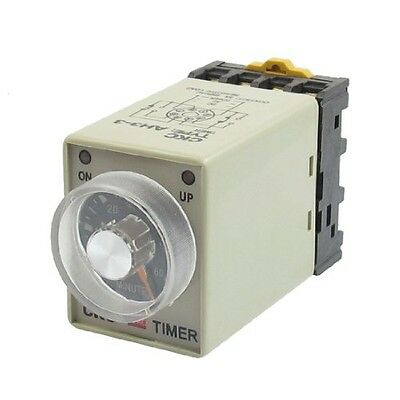 uxcell AC 110V 8P 0-60 Minutes Range Adjustable Delay Timer Time Relay AH3-3 +