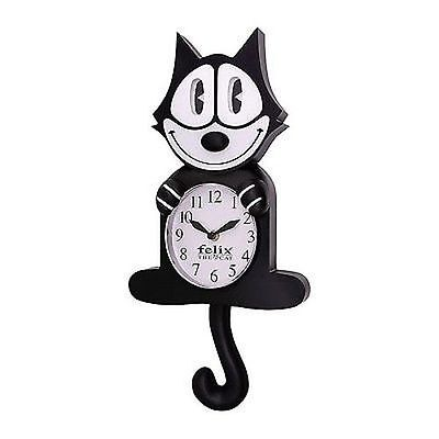 Felix The Cat Classic Black 3D Motion Wall Clock