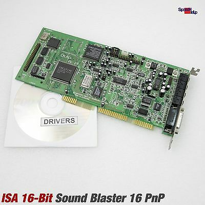 Isa Creative Labs Son Blaster 16 Pnp Ct2950 Audio Son Carte Card Dos Drivers