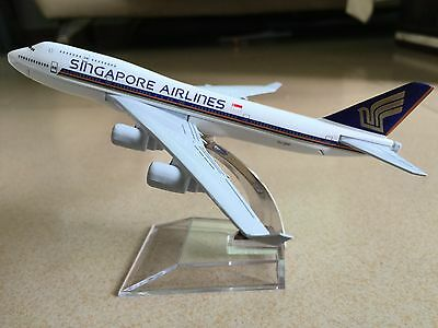 New SINGAPORE AIRLINES BOEING747 Passenger Airplane Plane Metal Diecast Model