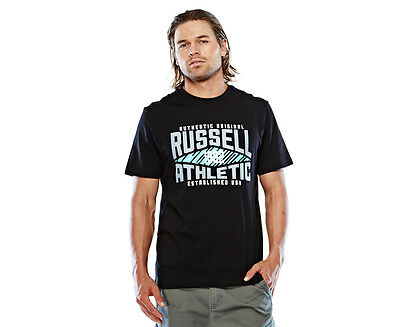 Russell Athletic Men's Campus Diamond T-Shirt - Black