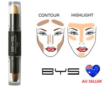 BYS Face Contour Highlight Bronze Creme Stick Pen Correct Illuminate Metalic