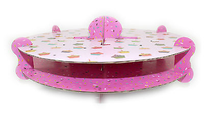 BNWT 2 tier Cup cake design Cake Pop Lollipop Stand Party Decoration Display