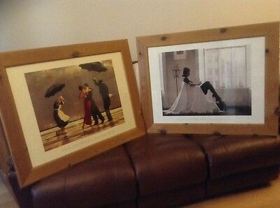 The Singing Butler and In Thoughts of You, Jack Vettriano framed prints.