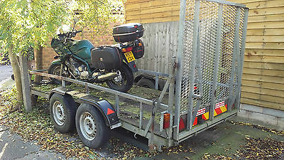 3.5Ton Plant trailer, twin axle, approx 5x12ft bed
