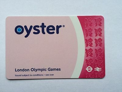 Very Rare Official London 2012 Olympic Games Pink Olympic Oyster Card