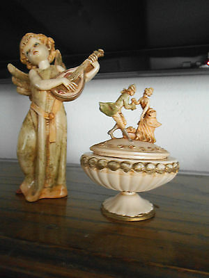 Collectable Estate (2) Vintage Italian Depose Resin Angel Ornament/Figurines