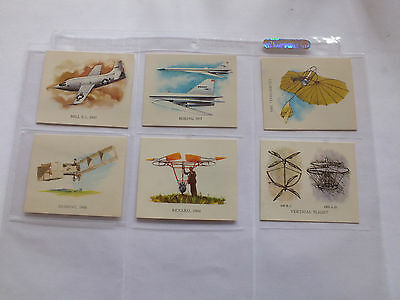 Nabisco Conquest Of The Air Cards X 6