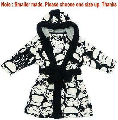 New Sz 3-10 Kids Winter Dressing Gown Starwars Boys Pj Pyjamas Nightie Pj Robe