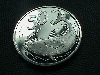 COOK  ISLANDS    50  cents    1975    PROOF