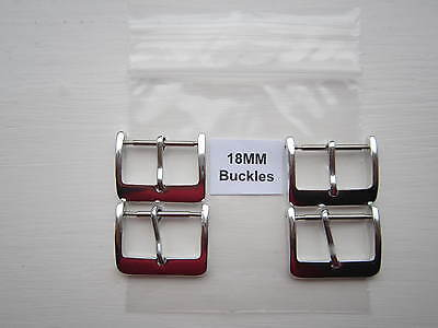Pack of 4 X 18mm Chrome Watch Strap Buckles.