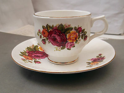 Rose Of England Cup And Saucer With A Roses Pattern