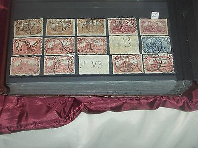 early Germany stamps with two perfins (i do combine p&p)