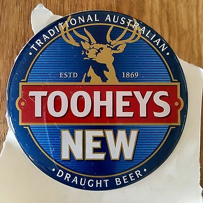Tooheys New Draught Beer Decal, Badge, Tap Top
