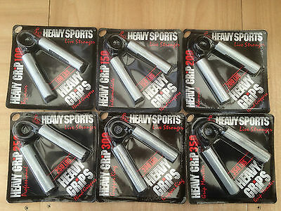 Set of 6 Genuine Heavy Grips Hand Grippers - HG100 to 350