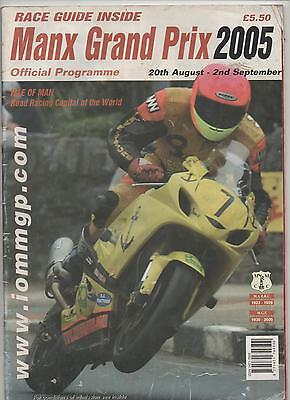 Isle Of Man Manx Grand Prix Motorcycle Programme And Race Guide - 2005