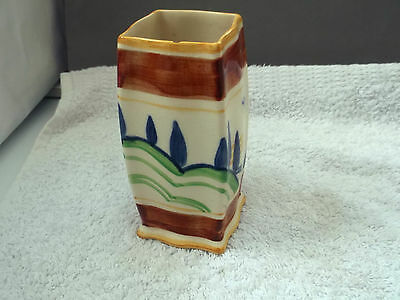 Vintage Small Square Royal Doulton Vase With A Stylistic Pattern   ?7350    A/f