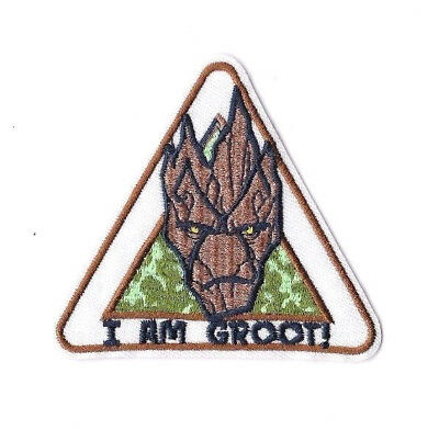 I AM GROOT IRON ON / SEW ON PATCH Embroidered Badge GUARDIANS OF GALAXY PT176