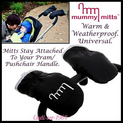 Mummy Mitts Pram/Pushchair Gloves Warm Weatherproof Quick Release Gloves NEW