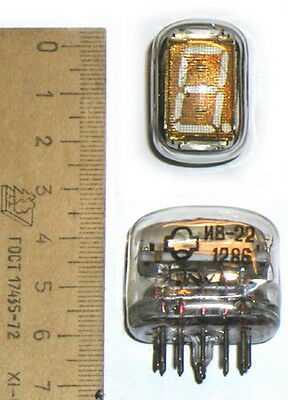 Lot of 1 pcs or More IV-22 Reflector VFD Nixie Tubes for Clock New NOS Tested